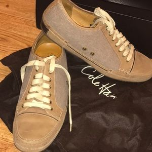 Cole Haan Nantucket Oxfords olive/canvas